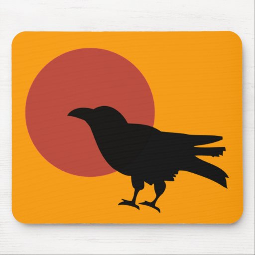 Crow Moon Mouse Pad