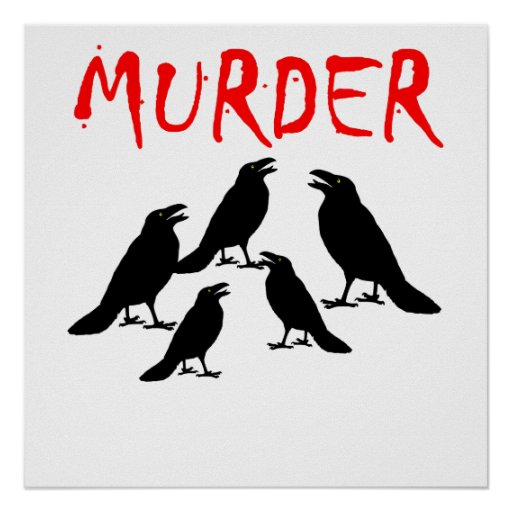 Crow Murder Posters