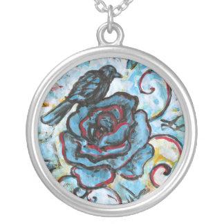 Crow Necklace (round)