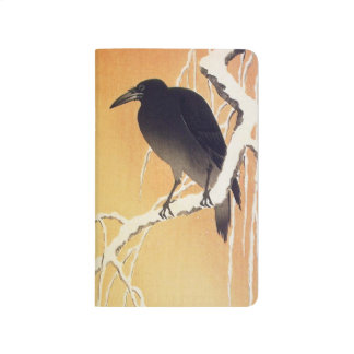 Crow on a Branch by Ohara Koson Vintage Journal