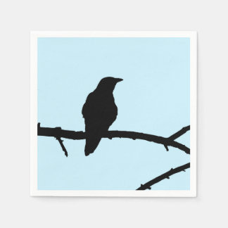 Crow On A Branch Disposable Napkins