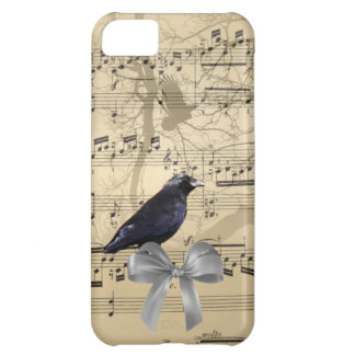 Crow on a music sheet iPhone 5C case
