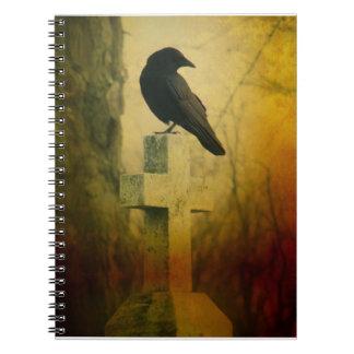 Crow On Cross Notebooks