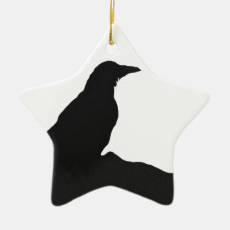 Crow outline christmas ornament
