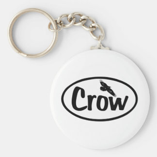 Crow Oval Key Ring