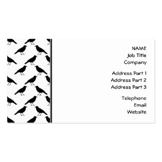 Crow Pattern. Business Card Template