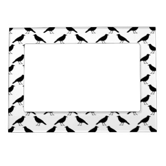 Crow Pattern. Magnetic Picture Frame