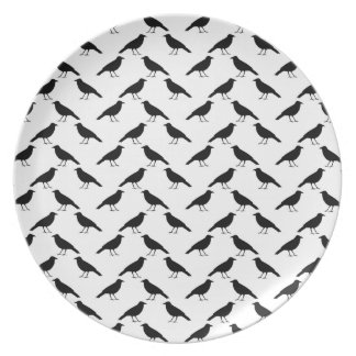 Crow Pattern. Plate