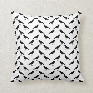 Crow Pattern. Throw Pillow