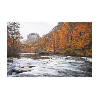Crow Point in Autumn Canvas Print