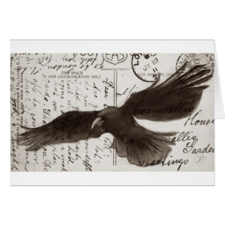 crow postcard background greeting card