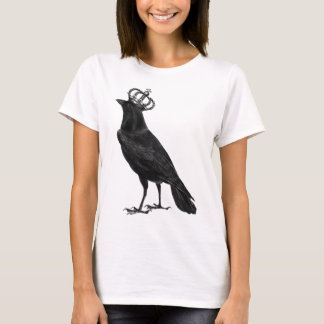 CROW Raven Crown Black Bird Birds T-Shirt