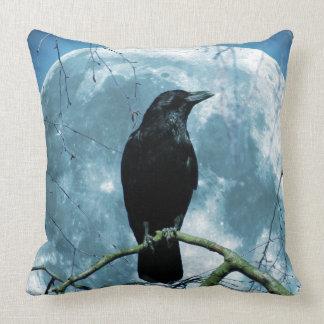 Crow Raven Moon Night Gothic Fantasy Stunning Cushion
