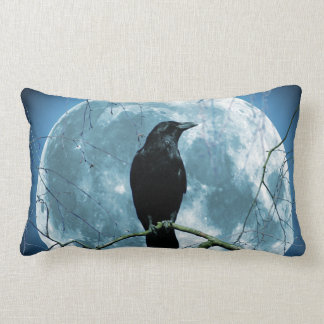 Crow Raven Moon Night Gothic Fantasy Stunning Lumbar Cushion