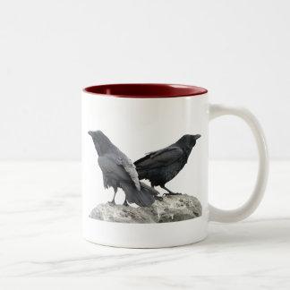 Crow Raven Two-Tone Mug