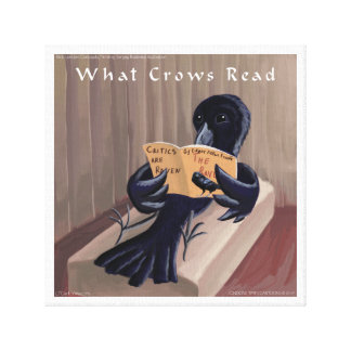 Crow Reads The Raven Rick London Canvas Print