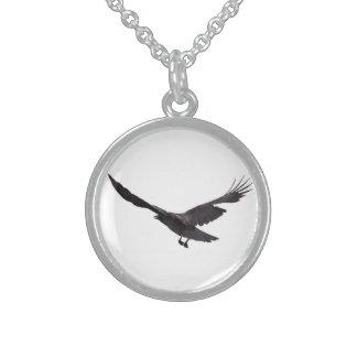 Crow Round Pendant Necklace