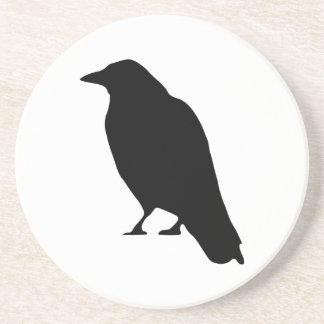 Crow Silhouette Coaster