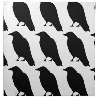 Crow Silhouette Napkin