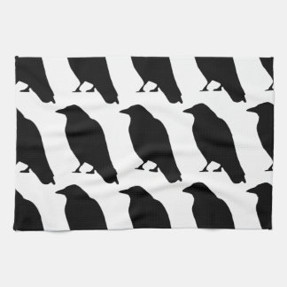 Crow Silhouette Tea Towel