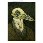 Crow Skull Card
