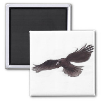 crow square magnet