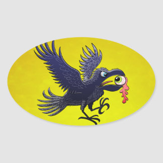 Crow Stealing an Eye Stickers