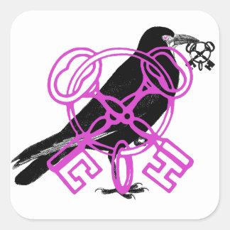 Crow Steals Skeleton Key Stickers