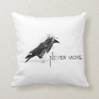 Crow to never dwells throw pillow