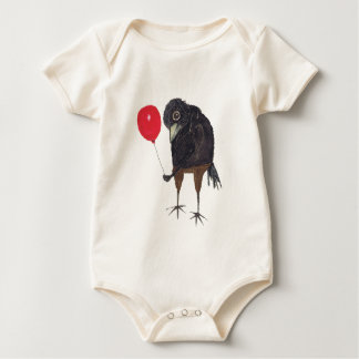 CROW WITH BALLOON BABY BODYSUIT