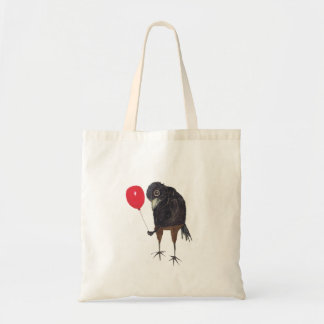 CROW WITH BALLOON TOTE BAG