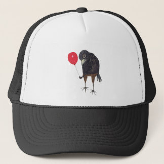 CROW WITH BALLOON TRUCKER HAT