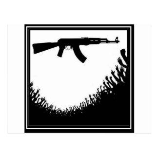 CROWD GUN POSTCARD
