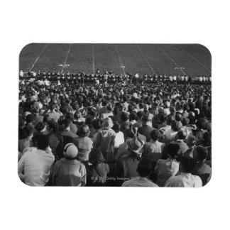 Crowd in stadium vinyl magnet