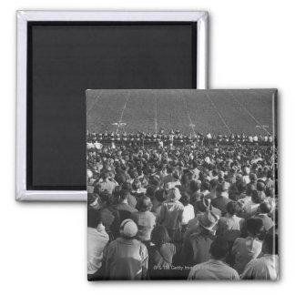Crowd in stadium square magnet