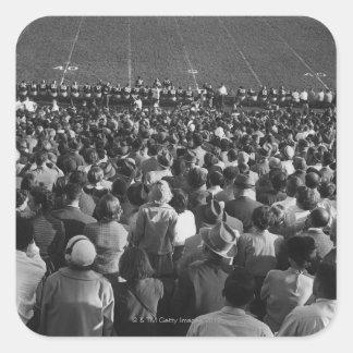 Crowd in stadium square sticker
