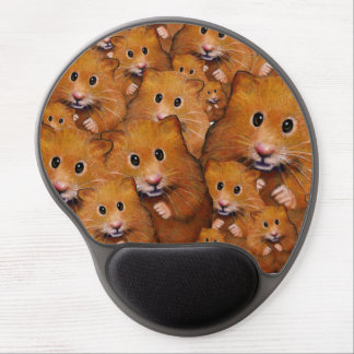 Crowd of Adorable Hamsters, Original Art Gel Mouse Pad