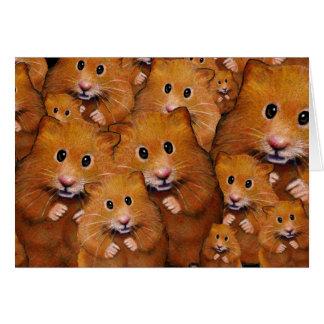 Crowd of Cute Hamsters: Original Art Card