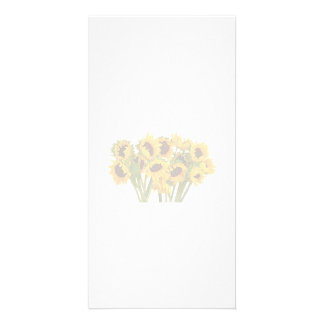 Crowd of Sunflowers Picture Card