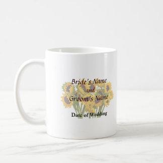 Crowd of Sunflowers Wedding Products Classic White Coffee Mug