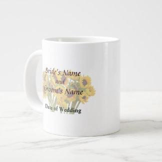 Crowd of Sunflowers Wedding Products Jumbo Mug
