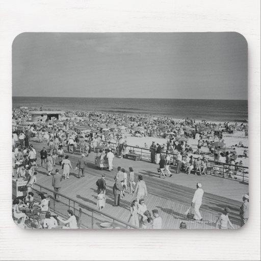 Crowd on Beach Mouse Pad