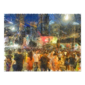 Crowd outside an event photographic print