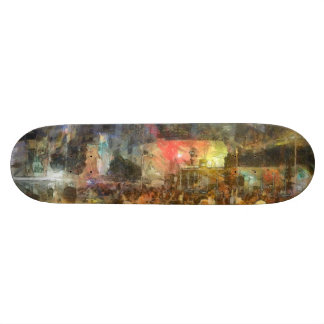 Crowd outside an event skate deck