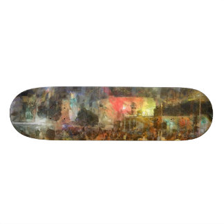 Crowd outside an event 21.6 cm skateboard deck