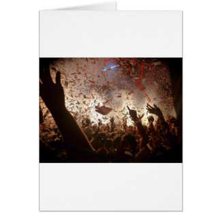 Crowd partying card