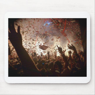 Crowd partying mouse mat