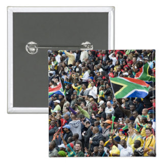 Crowd shot at a soccer game, with South African 15 Cm Square Badge