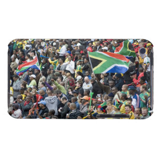 Crowd shot at a soccer game, with South African iPod Case-Mate Case