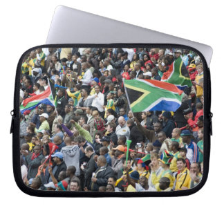 Crowd shot at a soccer game, with South African Laptop Sleeve